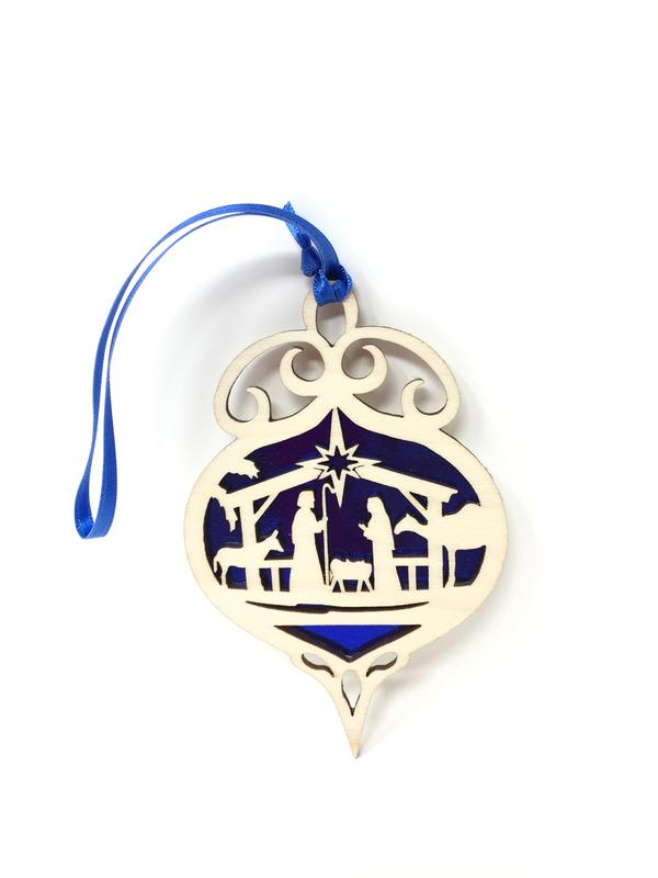 Nativity Bulb Ornament