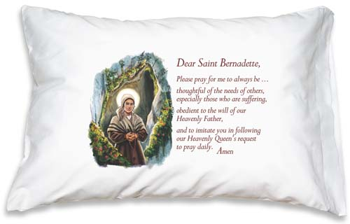 Prayer Pillowcase - St. Bernadette - ABCatholic