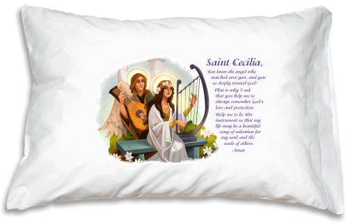 *Prayer Pillowcase - St. Cecilia*