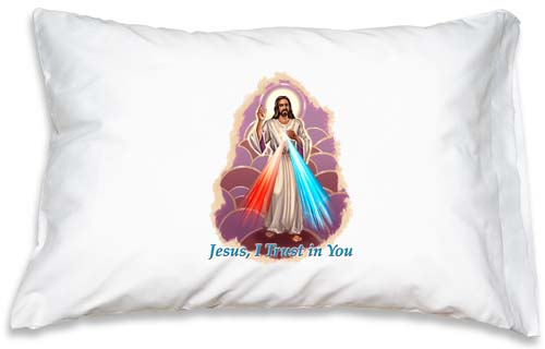 Prayer Pillowcase - Divine Mercy - ABCatholic
