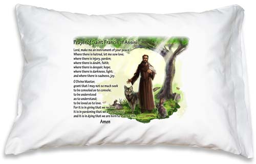 Prayer Pillowcase - St. Francis of Assisi