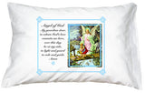 Prayer Pillowcase - Guardian Angel (Blue) - ABCatholic