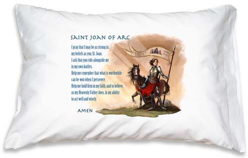 Prayer Pillowcase - St. Joan of Arc