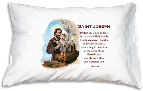 *Prayer Pillowcase - St. Joseph* - ABCatholic