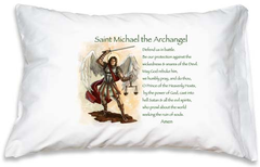 Prayer Pillowcase - St. Michael - ABCatholic