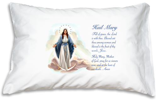 Prayer Pillowcase - Hail Mary - ABCatholic