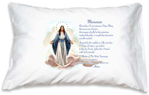 Prayer Pillowcase - Our Lady of Grace: Memorare - ABCatholic
