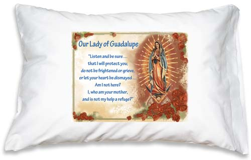 Prayer Pillowcase - Our Lady of Guadalupe - ABCatholic