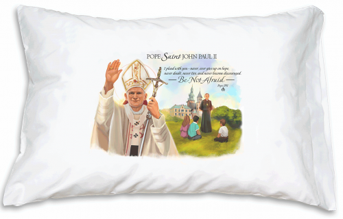 Prayer Pillowcase - Pope Saint John Paul II - Vignette
