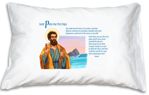 Prayer Pillowcase - St. Peter