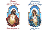 Prayer Pillowcase - The Sacred & Immaculate Hearts - ABCatholic