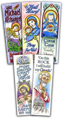 Catholic Coloring Bookmarks
