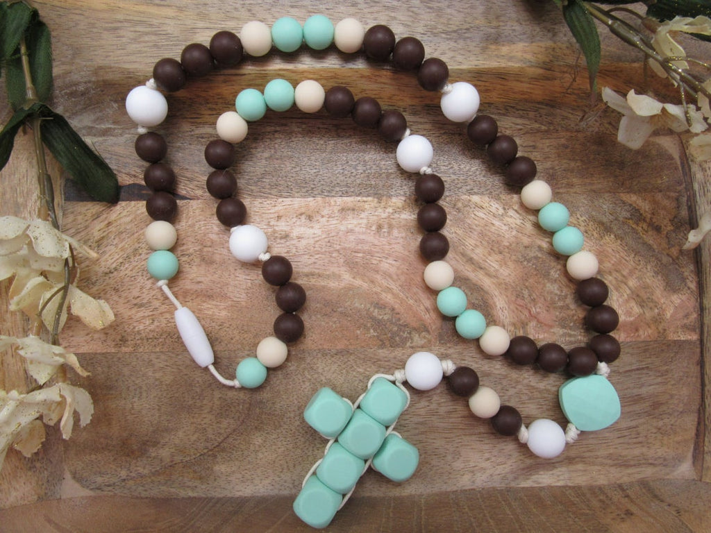 Mint / Chocolate (Teething Rosary)
