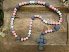 Gray / Pink (Teething Rosary) - ABCatholic