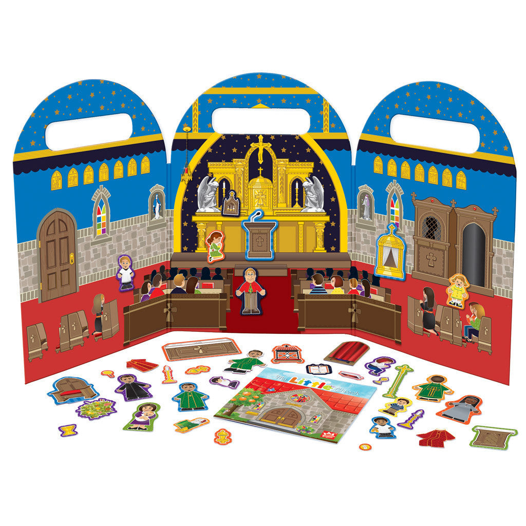 My Little Church Magnet Playset