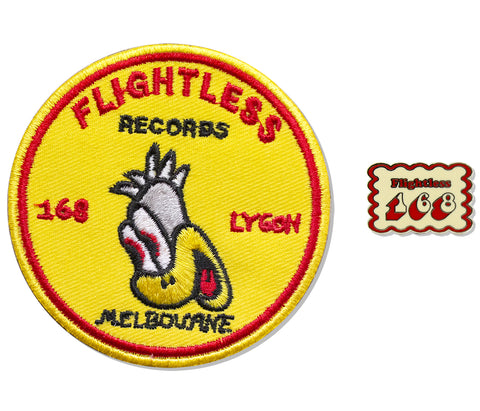 Flightless 168 Pin & Patch Combo