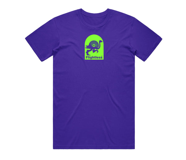 Flightless Records - Logo T-Shirt Purple