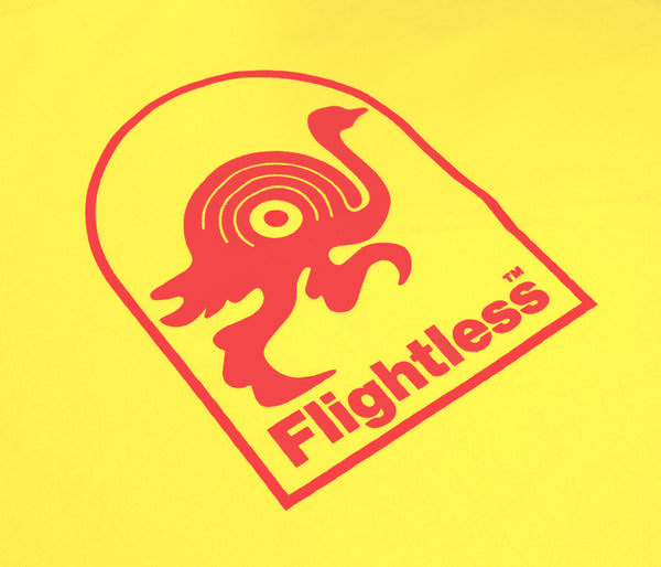 Flightless Records - Logo T-Shirt Yellow