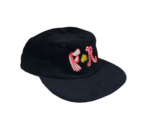 Flightless Records - Black FR logo Cord Cap (Limited Edition)