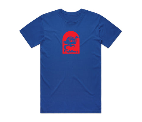Flightless Records - Logo T-Shirt Blue