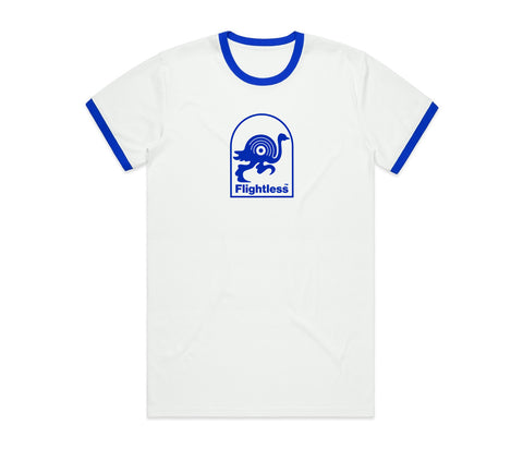 Flightless Records - Logo Ringer White/Blue