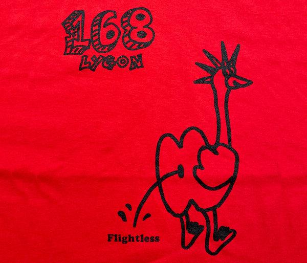 Flightless Records - 168 Emu Piss T-Shirt Red