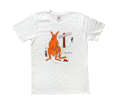 Flightless Records - Organic Kangaroo T~Shirt (Limited Edition)