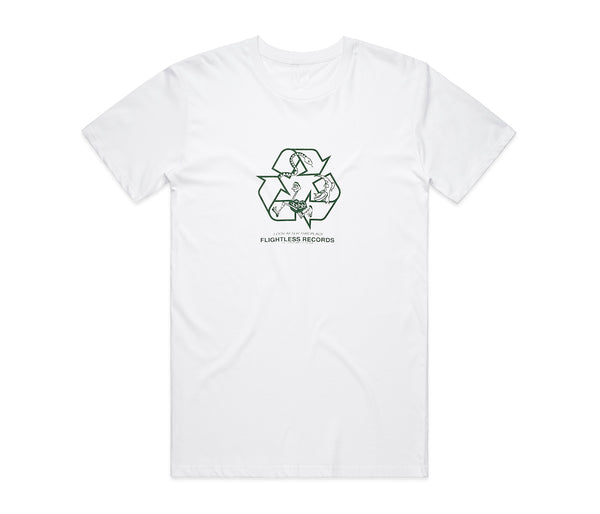 Flightless Records - Recycle T-Shirt White