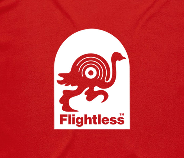 Flightless Records - Logo T-Shirt Red