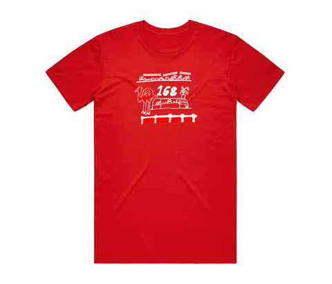 Flightless Records - 168 Counter T-Shirt Red