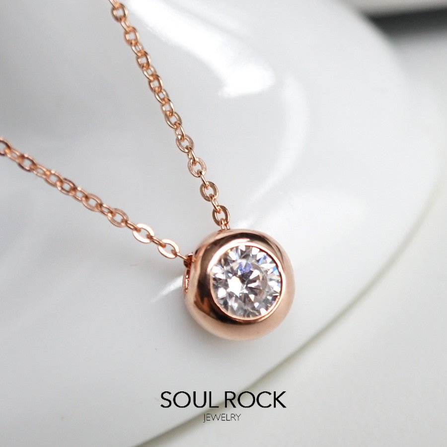 raindrop solitaire gold pendant necklace stone solitare london product road rose jewellery diamond