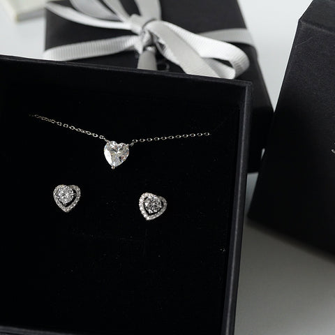 sparkling heart set