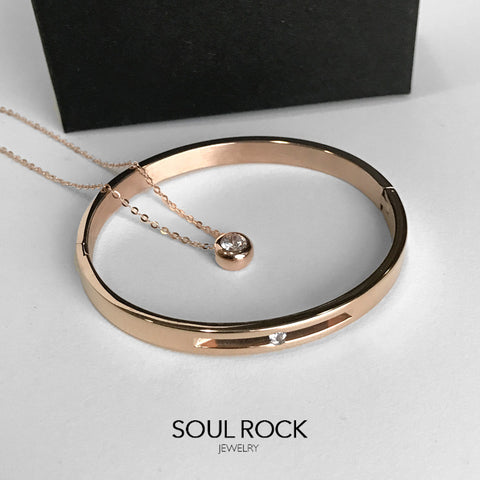 sparkling rose gold set