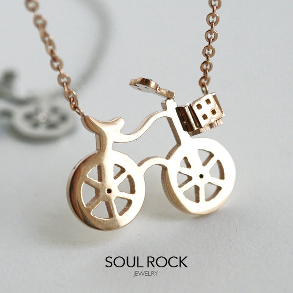 SS bicycle necklace