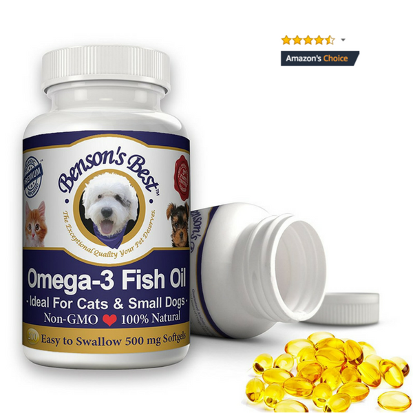Omega-3 Fish Oil for Cats & Small Dogs - 500 mg Softgels
