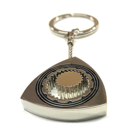 Chrome Rotor Key Ring