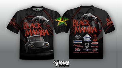Black Mamba Racing Crew Medium shirts