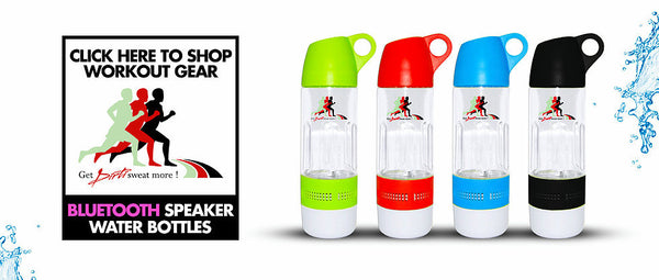 Blue Tooth Speaker Water Bottle: Album Included w/ SD card Insert
