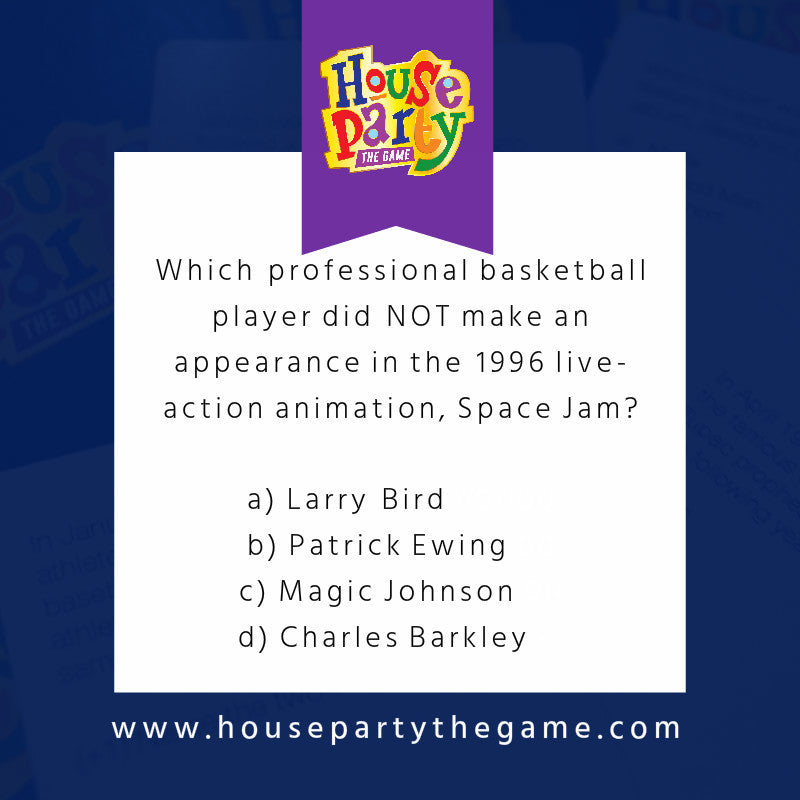 House Party the Game - '90s Edition black trivia game