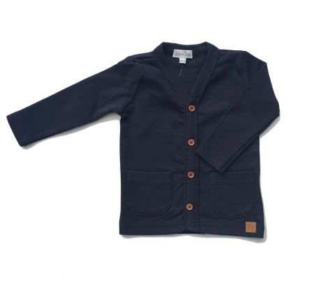 Knit Cardigan - Dark Navy