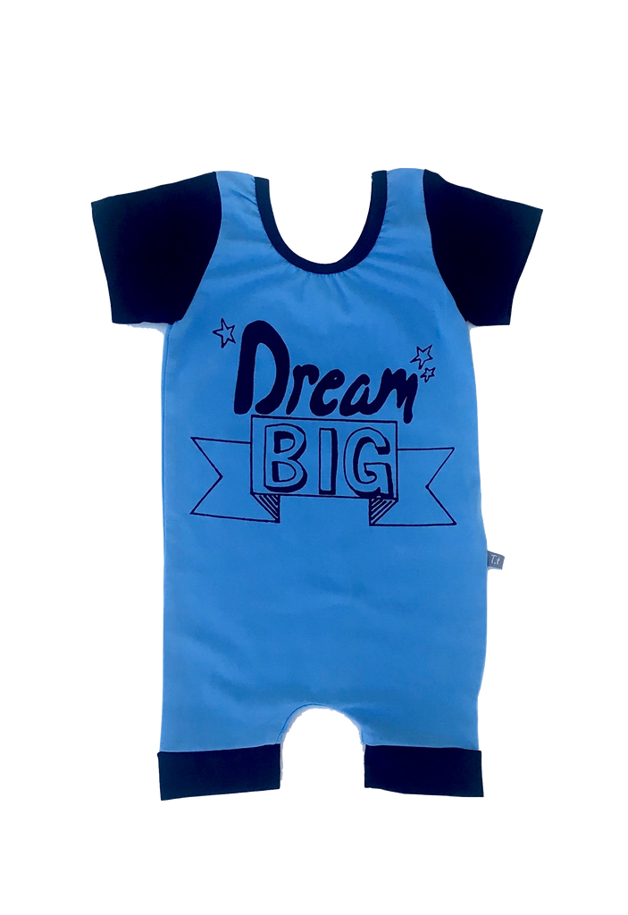 """Dream Big"" Romper - Blue"