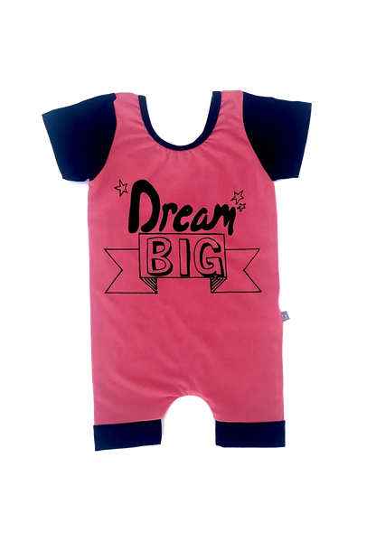"""Dream Big"" Romper - Watermelon Red"