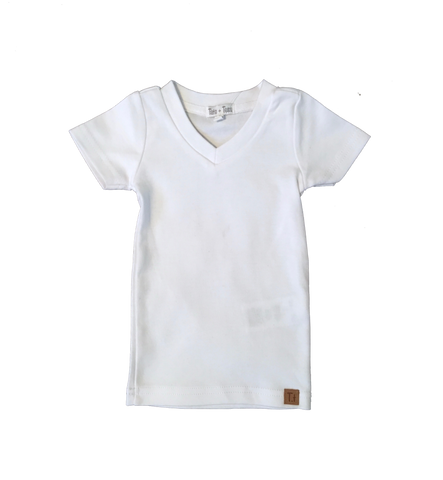 V-Neck - Pure White