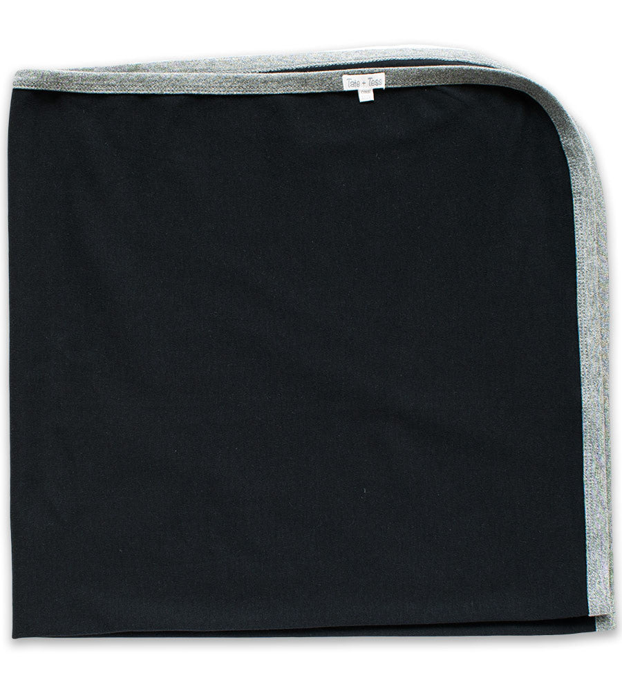 Baby Blanket - Black & Heather Gray