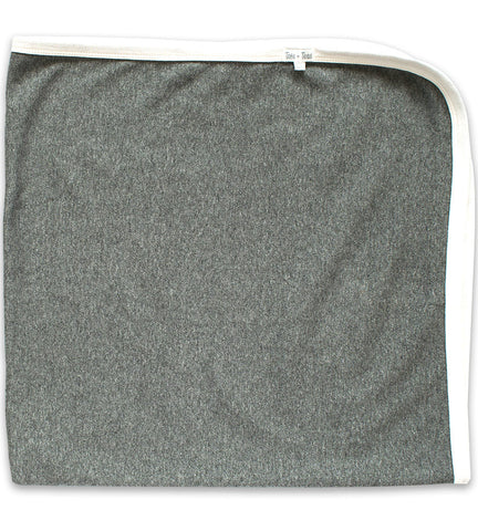 Baby Blanket - Heather Gray & Cream
