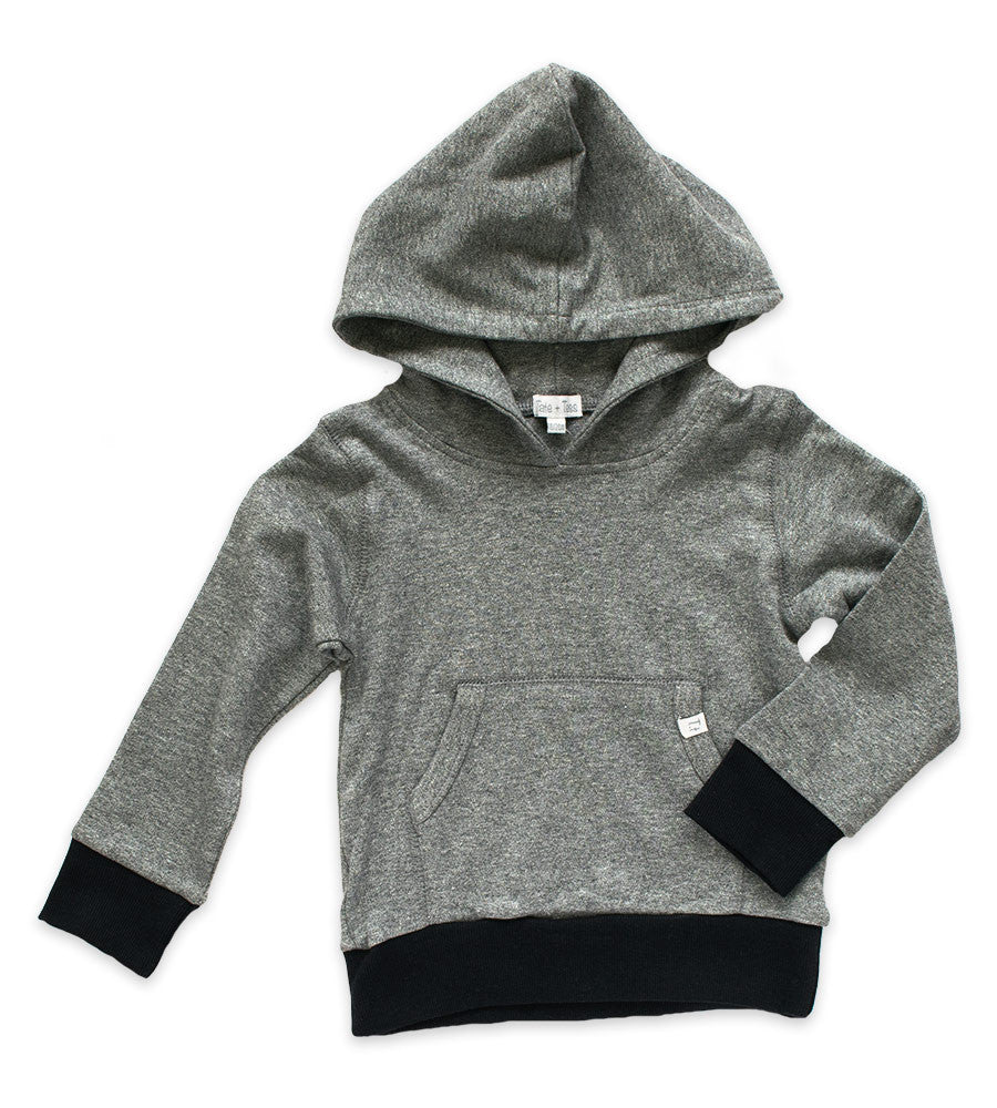Hoodie - Heather Gray and Black