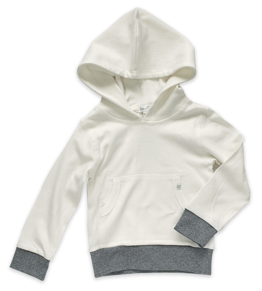 Hoodie - Cream & Heather Gray
