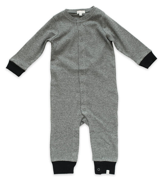 Romper - Heather Gray & Black