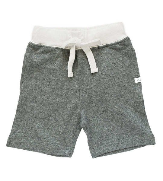 Shorts - Heather Gray & Cream