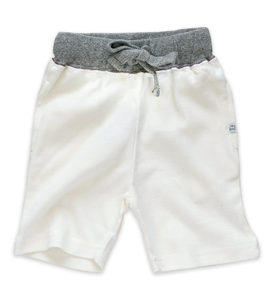 Shorts - Cream & Heather Gray